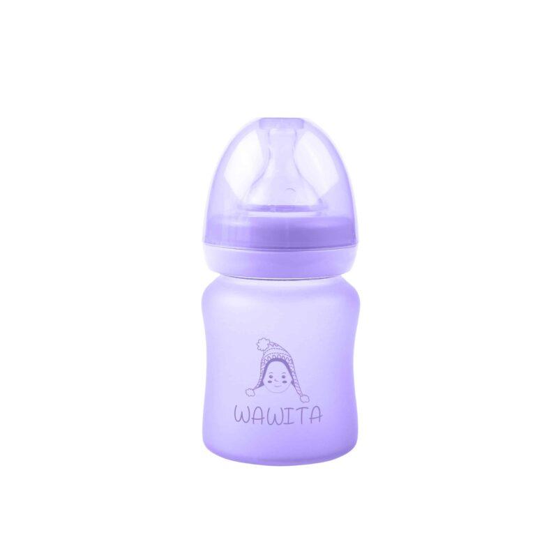 Wawita baby glass bottle Purple 4 Ounces